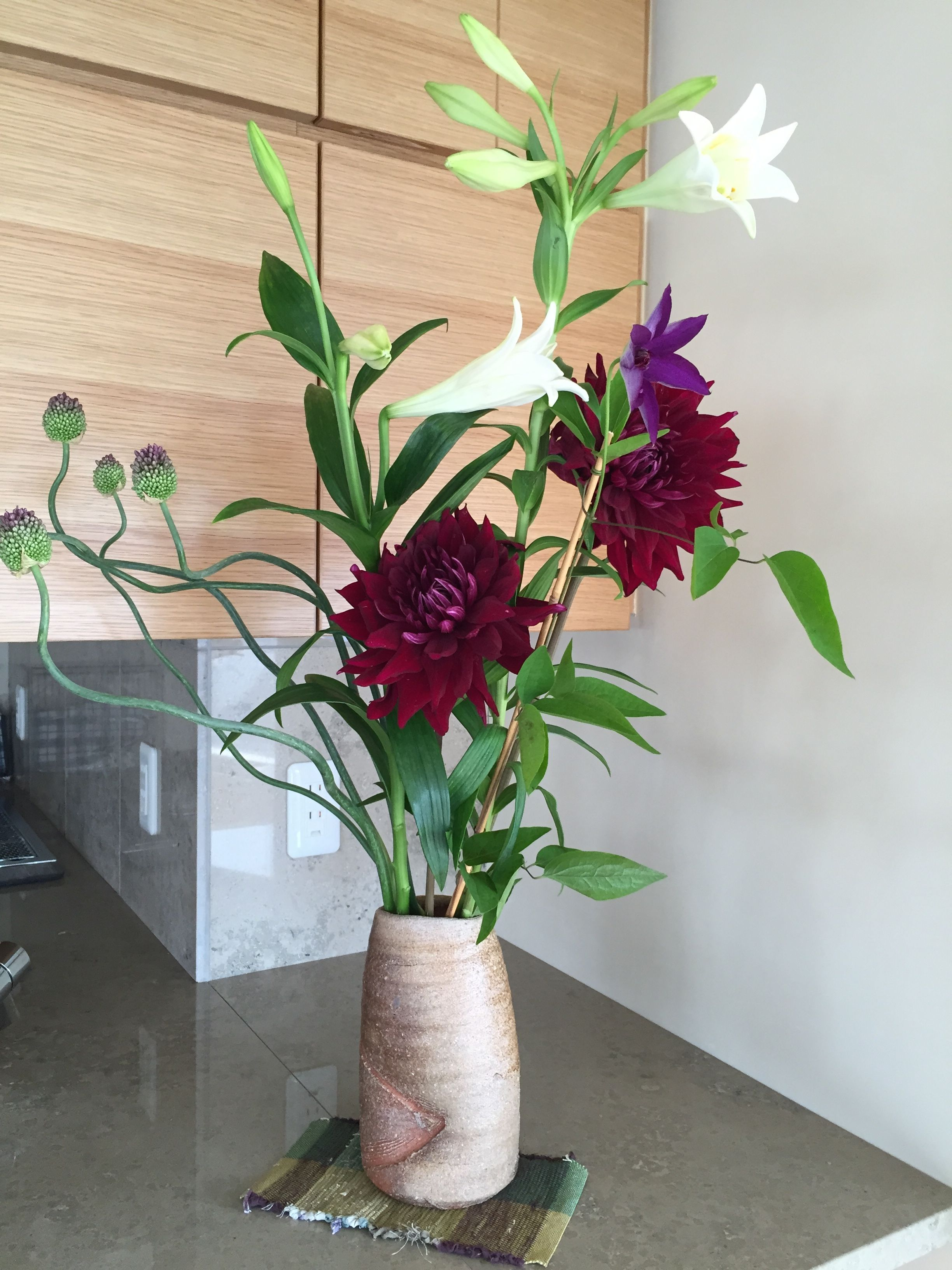 Ikebana arrangement created onsite by our architect.