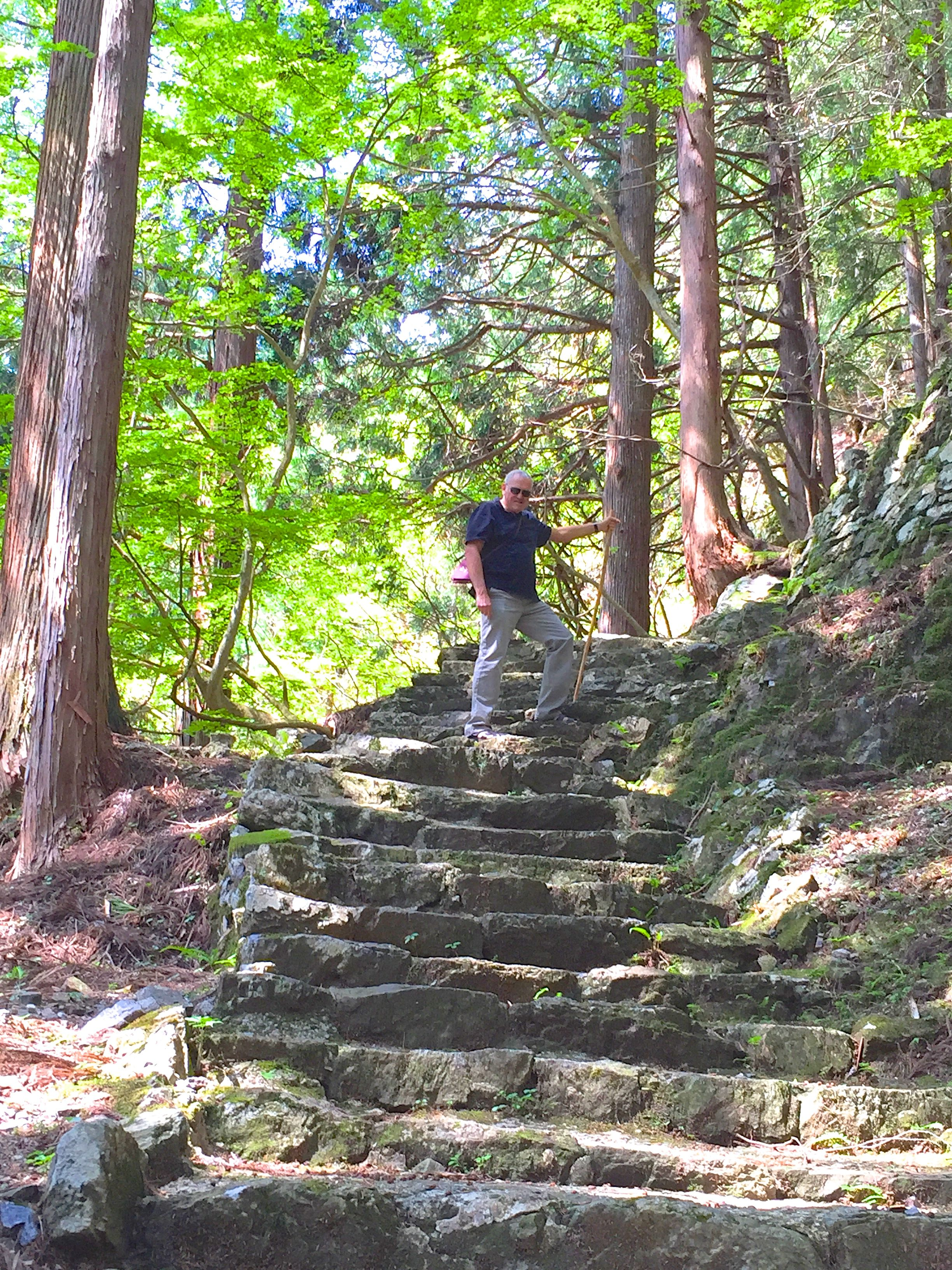 Climbing to the temple